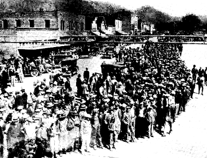 Crowd Outside Scottsboro Court House, April 6, 1931
