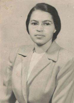 "<strong>Portrait of Rosa Parks.</strong> Library of Congress, courtesy of Rosa and Raymond Parks Institute for Self Development. Retrieved from: <a href=""http://www.loc.gov/teachers"">www.loc.gov/teachers</a>"